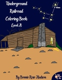 Underground Railroad Coloring Book-Level A