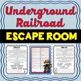 Underground Railroad ESCAPE ROOM! Harriet Tubman Activity