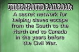 Underground Railroad - Educational Music Video - Song - Lesson Plan