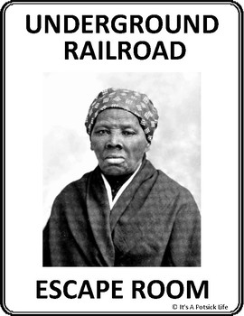 Underground Railroad Escape Room - Elementary Ver. - American/US Black History
