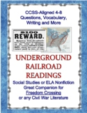 Underground Railroad Nonfiction Readings CCSS 4-8 Aligned