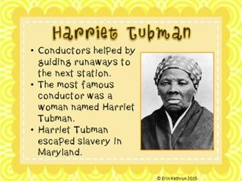 Underground Railroad PowerPoint and Note Set