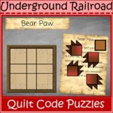 Underground Railroad Quilt Code Puzzles Digital Interactiv