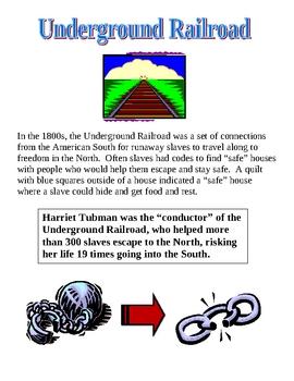 Underground Railroad - Scavenger Hunt & Diaries