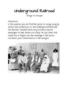 Underground Railroad: Songs to Escape