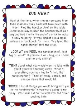 Underground Railroad Task Cards