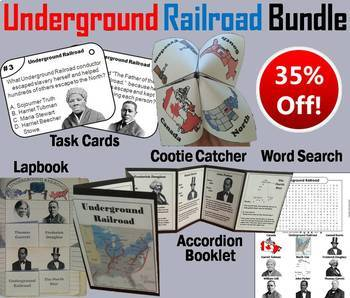 Underground Railroad Task Cards and Activities Bundle