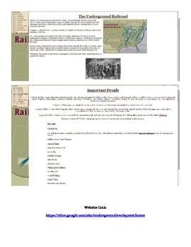 Underground Railroad Web Based Project