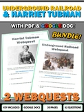 Underground Railroad and Harriet Tubman - Webquest with Key (American History)