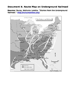 Underground Railroad primary source analysis and common assessment