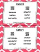 Underline the Syllables QR Code Task Cards Set 1 IREAD PHONICS