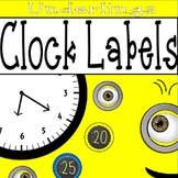 Underling Clock Labels: Underling Classroom Theme Decor