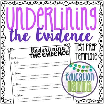 Underlining Evidence