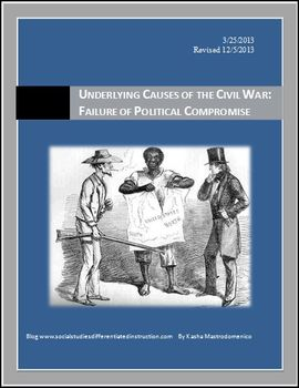 Underlying Causes of the Civil War: Failure of Political Compromise Lesson