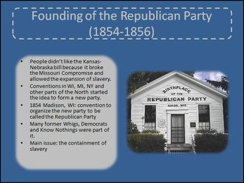 Underlying Causes of the Civil War: Failure of Political Compromise PowerPoint