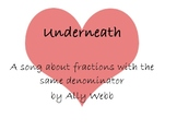 Underneath: A Song About Fractions (MP3, Lyrics, and Graph