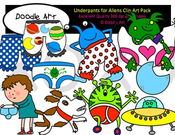 Underpants for Aliens Clipart Pack