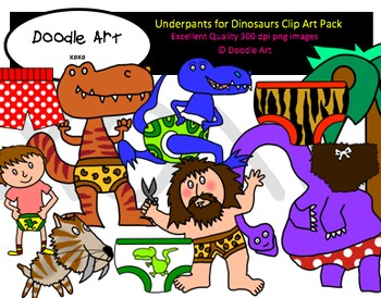 Underpants for Dinosaurs Clipart Pack