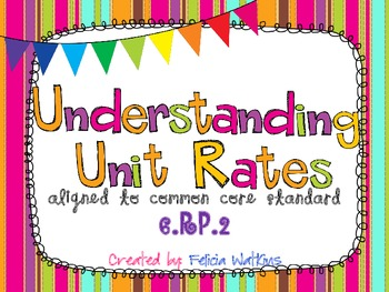 Understading Unit Rates Task Cards CCS 6.RP.2