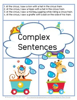 Understand Complex Sentences - Visual Supports - Receptive + Expressive Language