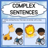 Complex Sentences - with Visual Supports - Receptive & Exp