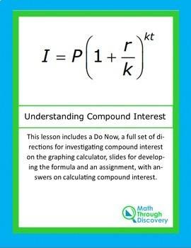 Algebra I:  Understanding Compound Interest