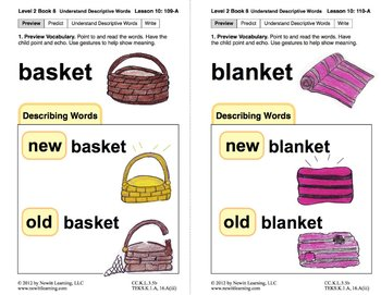 Understand Descriptive Words: Lesson 10, Book 8 (Newitt Prereading Series)