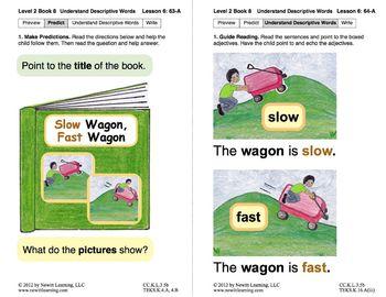 Understand Descriptive Words: Lesson 6, Book 8 (Newitt Prereading Series)