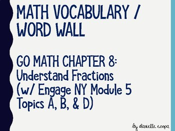 Understand Fractions Vocabulary