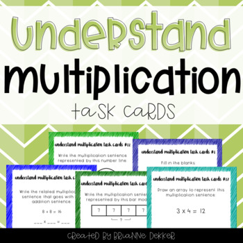 Understand Multiplication Task Cards - Third Grade Go Math!