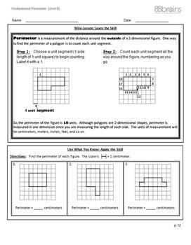 Understand Perimeter pgs. 12 & 13 (Common Core)
