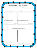 Understand Solving 2 Step Equations: Video and Paper Resources