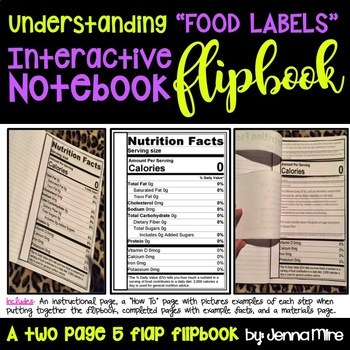 Understanding a Food Label Interactive Flip Book