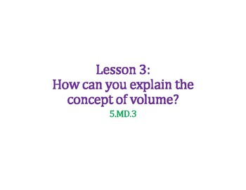 Understand the Concept of Volume PowerPoint