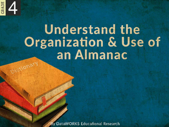 Understand the Organization and Use of an Almanac