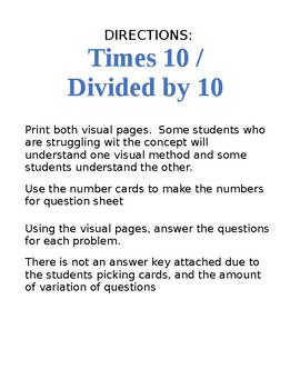 Understand times 10 and 1 tenth of, in place value