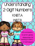 Understanding 2 digit numbers (Kindergarten and First Grade Math Activities)