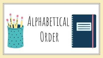 Understanding ABC Order