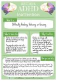 Understanding ADHD: Inattention
