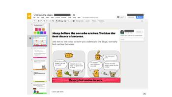 Understanding Adages/Proverbs - Paperless - Digital Google Lesson -