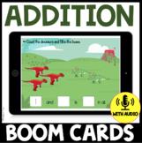 Understanding Addition Dinosaur Theme BOOM CARDS