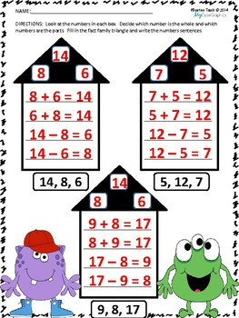 Understanding Addition and Subtraction Strategies Worksheets