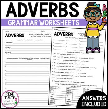 Understanding Adverbs Worksheets - No Prep Printables