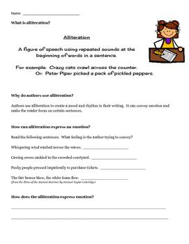 Understanding Alliteration