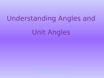 16.3 Understanding Angles and Unit Angles