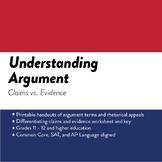 Understanding Argument: Claims vs. Evidence