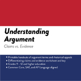 Understanding Argument: Claims vs. Evidence
