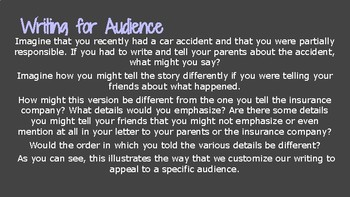 Understanding Audience Lesson & Activity