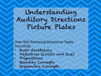 Understanding Auditory Directions Picture Plates