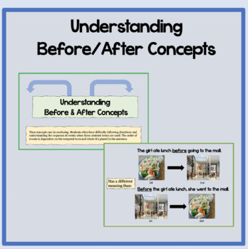 Understanding Before & After *Distance Learning Version